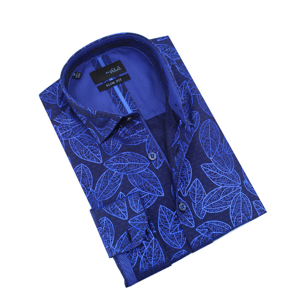 Metallic Leaf Print Shirt