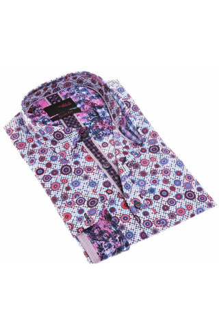 LILAC DIGITAL PRINT SHIRT #H-1864