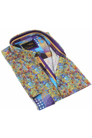 DIGITAL PRINT SHIRT W/ TRIM  #H-1878