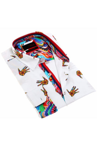 Digital Print Shirt W/Trim  #H-1880