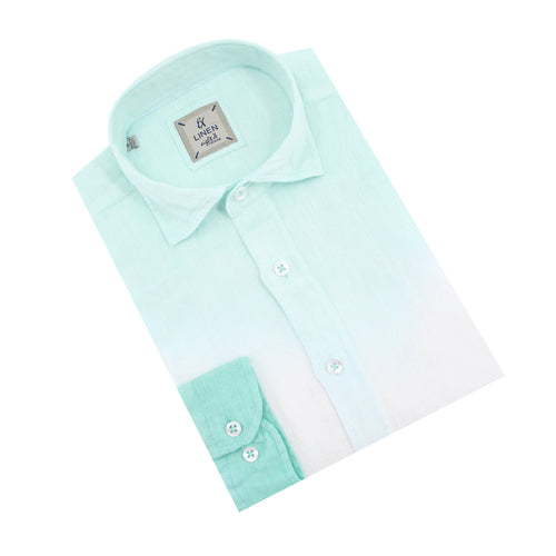 Green Ombré  Linen Shirt