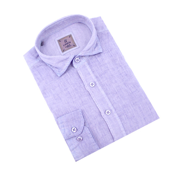 Solid Purple Linen Shirt