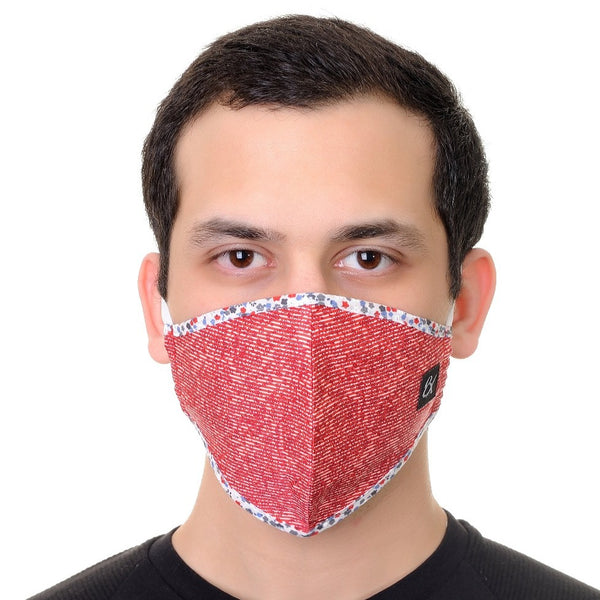 Face Mask Red Print