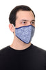 Face Mask Navy Vine print