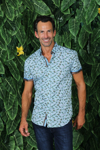 Ocean Palms Short Sleeve Shirt #M-10323