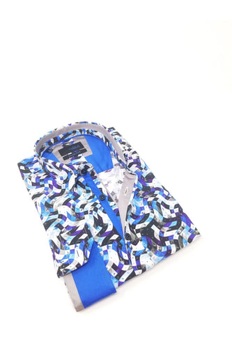 Blue Wave Digital Print Shirt #M-10388