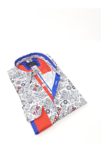 White Radical Skull Print Shirt #M-10393