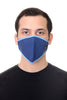 Face Mask Navy Geo Print