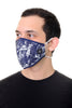 Face Mask Navy Marble print