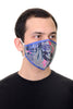 Face Mask Blue Tropical Flowers print