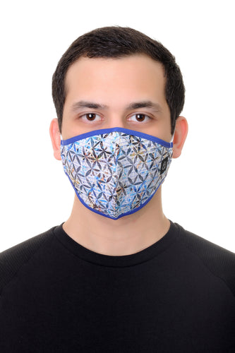Face Mask Multi Geo print