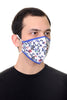 Face Mask White Multi Floral print