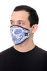 Face Mask Blue Paisley print
