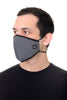 Face Mask Black Geo print