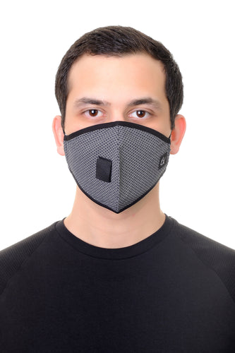 Face Mask W/ Straw Hole Black