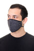 Face Mask Black Mini Squares Shapes  Print