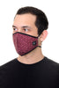 Face Mask Burgundy Mini Paisley print