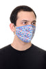 Face Mask Blue Geo print