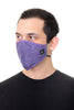 Face Mask Purple Paisley  Print
