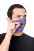 Face Mask W/ Straw Hole Purple Paisley Print