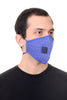 Face Mask W/ Straw Hole Royal Blue Polka Dots Print