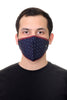 Face Mask Navy Arrows print