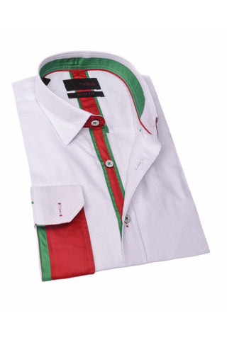 WHITE ITALIAN THEME SHIRT #M-1772-1