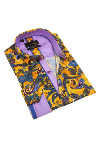 Multi Color Paisley Digital Print Shirt #M-1794