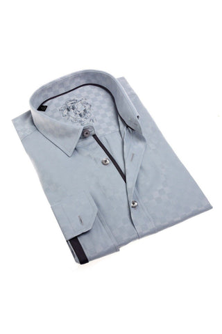 Grey Jacquard Dress Shirt