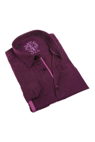BORDEAUX JACQUARD SHIRT #M-1808