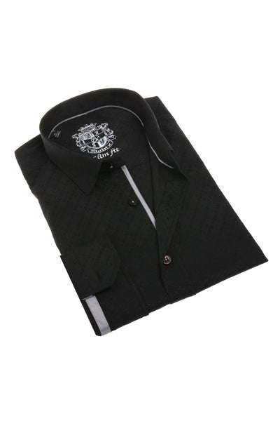 Black Jacquard Shirt #M-1809