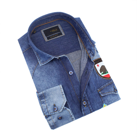 Denim California Patch Shirt