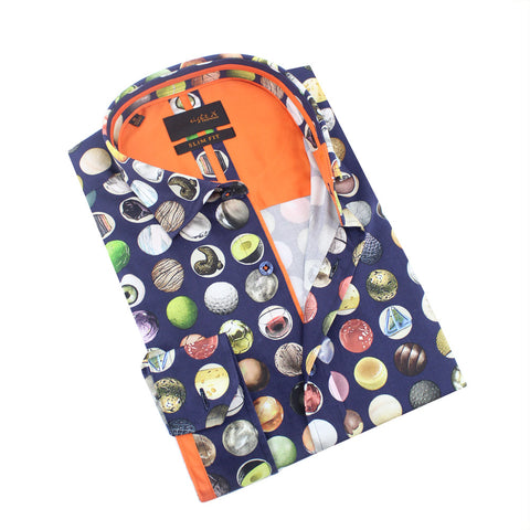 Polka Dot Collage of All Things Circle Print Shirt