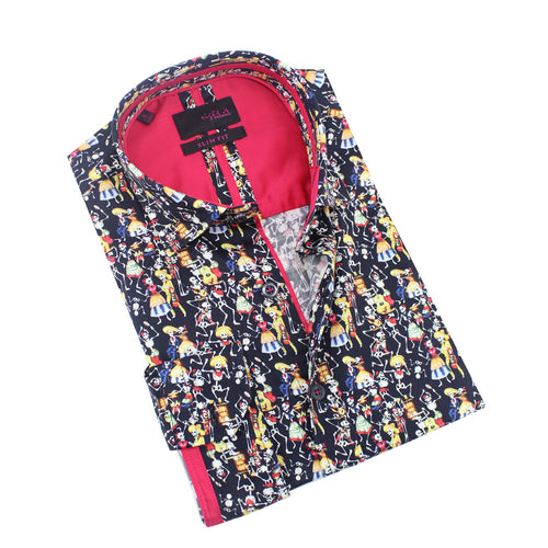 Dancing Day of The Dead Print Shirt