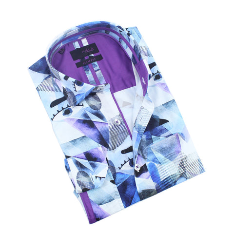 The Blues Abstract Eyes Print Shirt