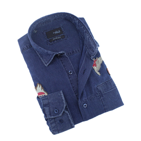 Denim Super Eight- X Patch Shirt