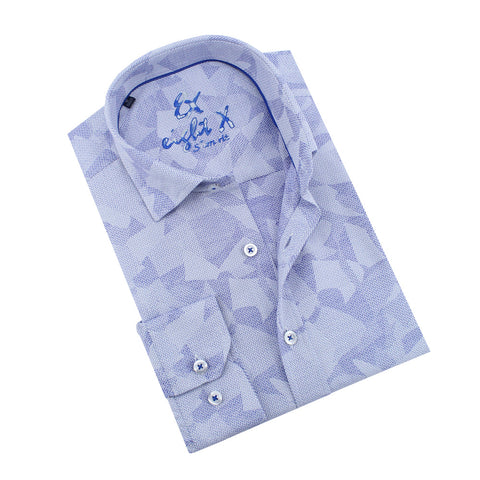 Royal Geo-Shapes Print Jacquard Shirt