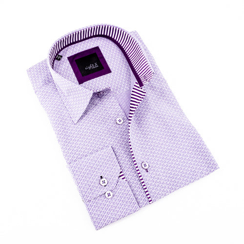 Lilac Striped Jacquard Shirt