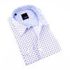 Digital Print Shirt With Jacquard Trim #M-261