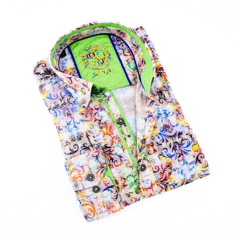 MULTI COLOR FLOCKING SHIRT #M-533