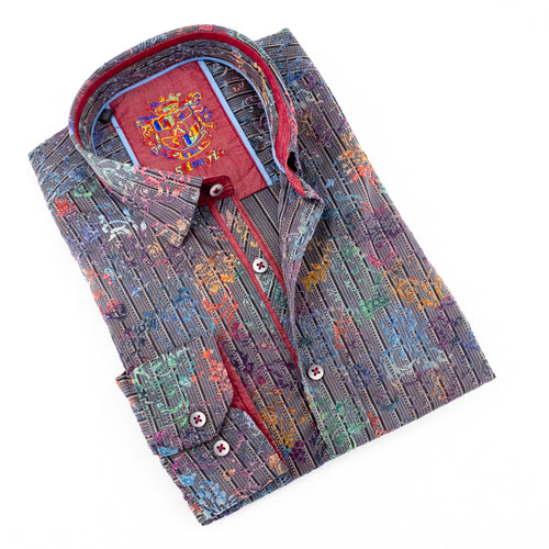 Multi Color Flocking Shirt #M-535
