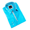 Turquoise Shirt With Colorful Trim
