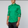 Green Shirt With Colorful Trim