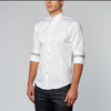 White Shirt With Colorful Trim