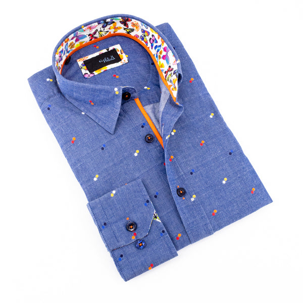 Fill Coupe Shirt With Butterfly Trim #M-829