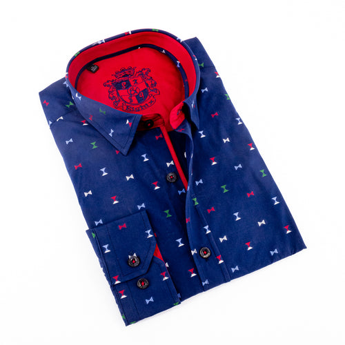 Fill Coupe Shirt With Solid Trim #M-875
