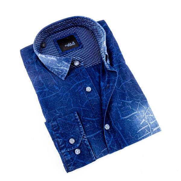 DENIM CRACKLE WASH SHIRT #M-877