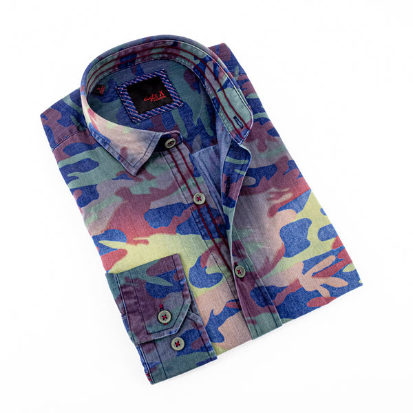 CAMOUFLAGE DENIM SHIRTS # M-879