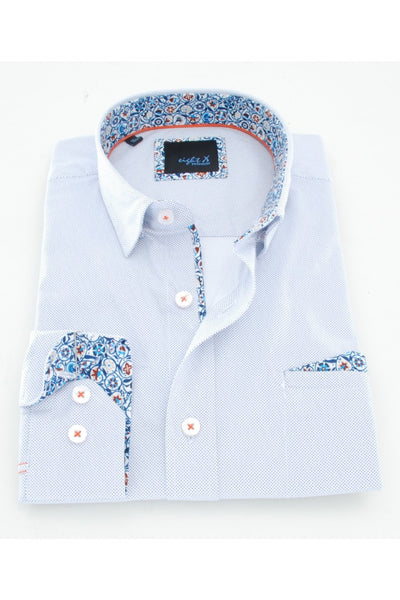 ELBOW PATCH SHIRT W/POCKET PAISLEY #M-907