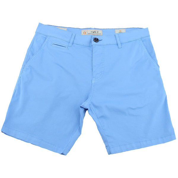 Solid Blue Chino Shorts